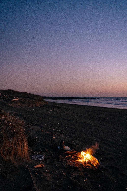bonfire on beach shore during daytime