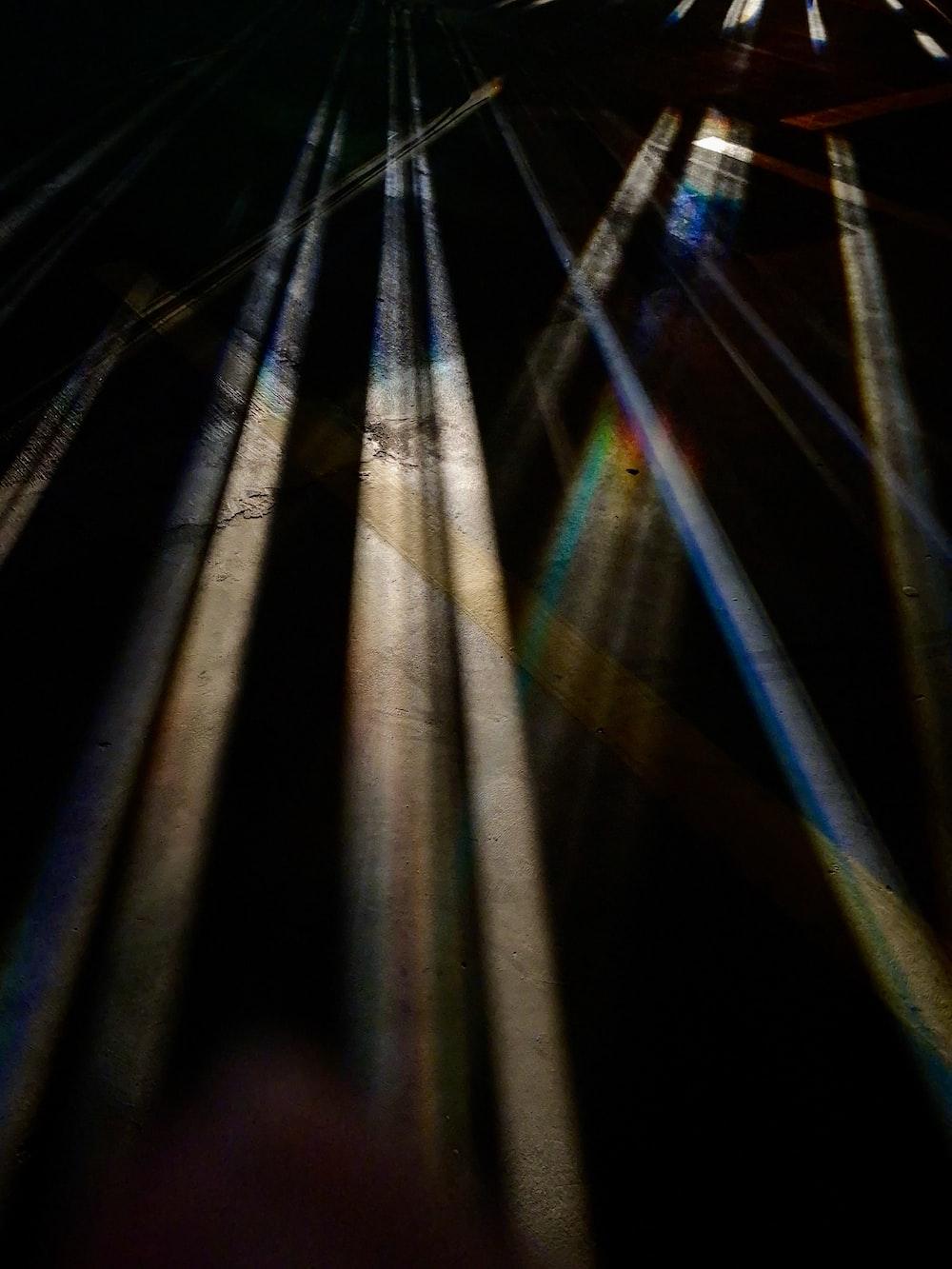 blue and white light streaks
