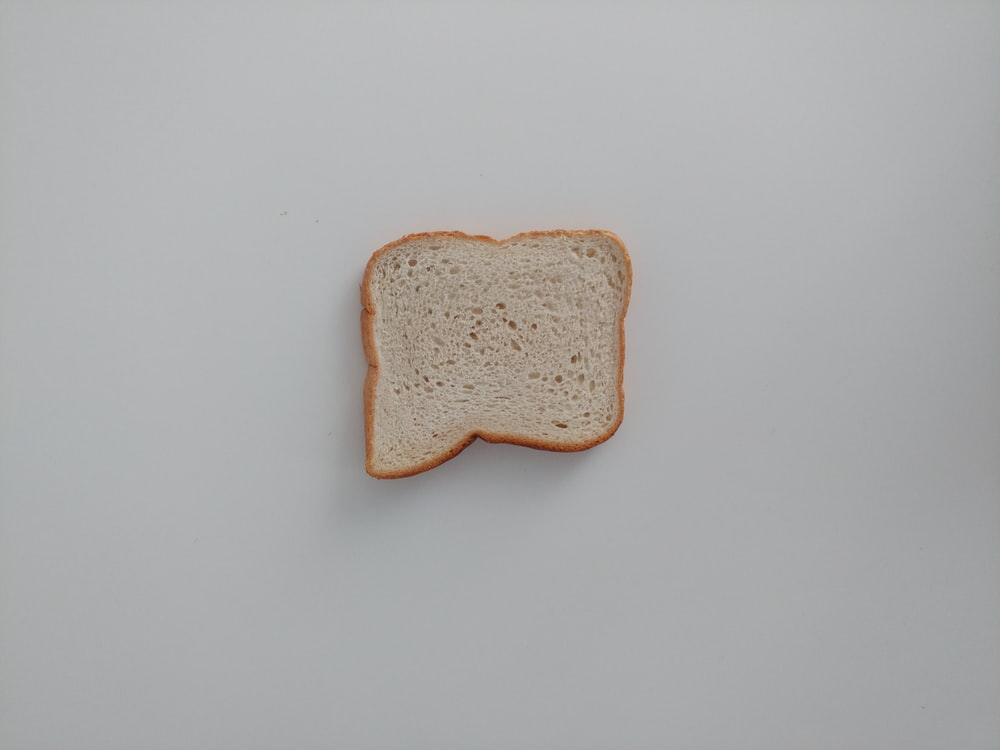 brown bread on white table