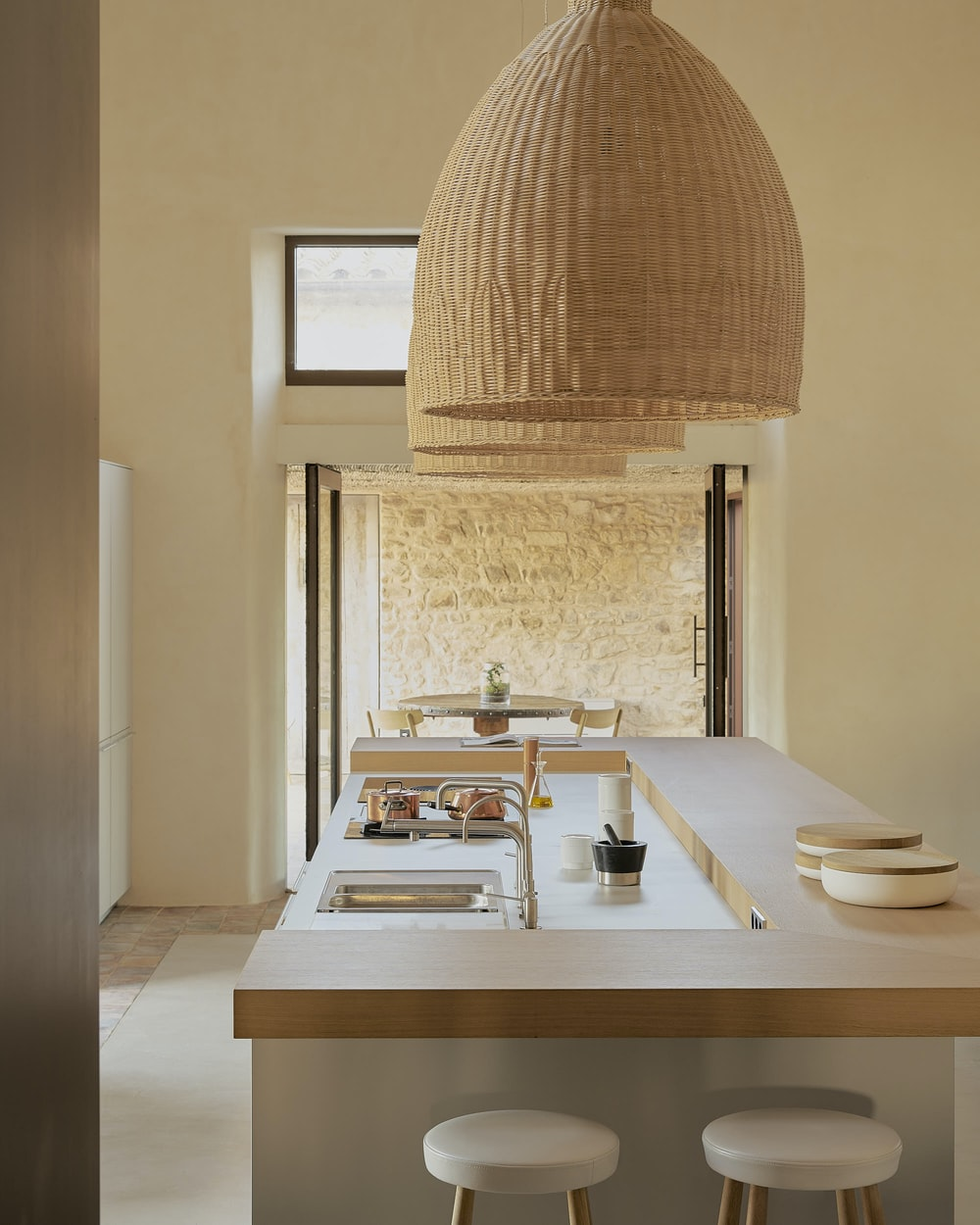 white table lamp on white wooden table