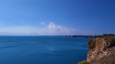 blue sea under blue sky during daytime bulgaria zoom background