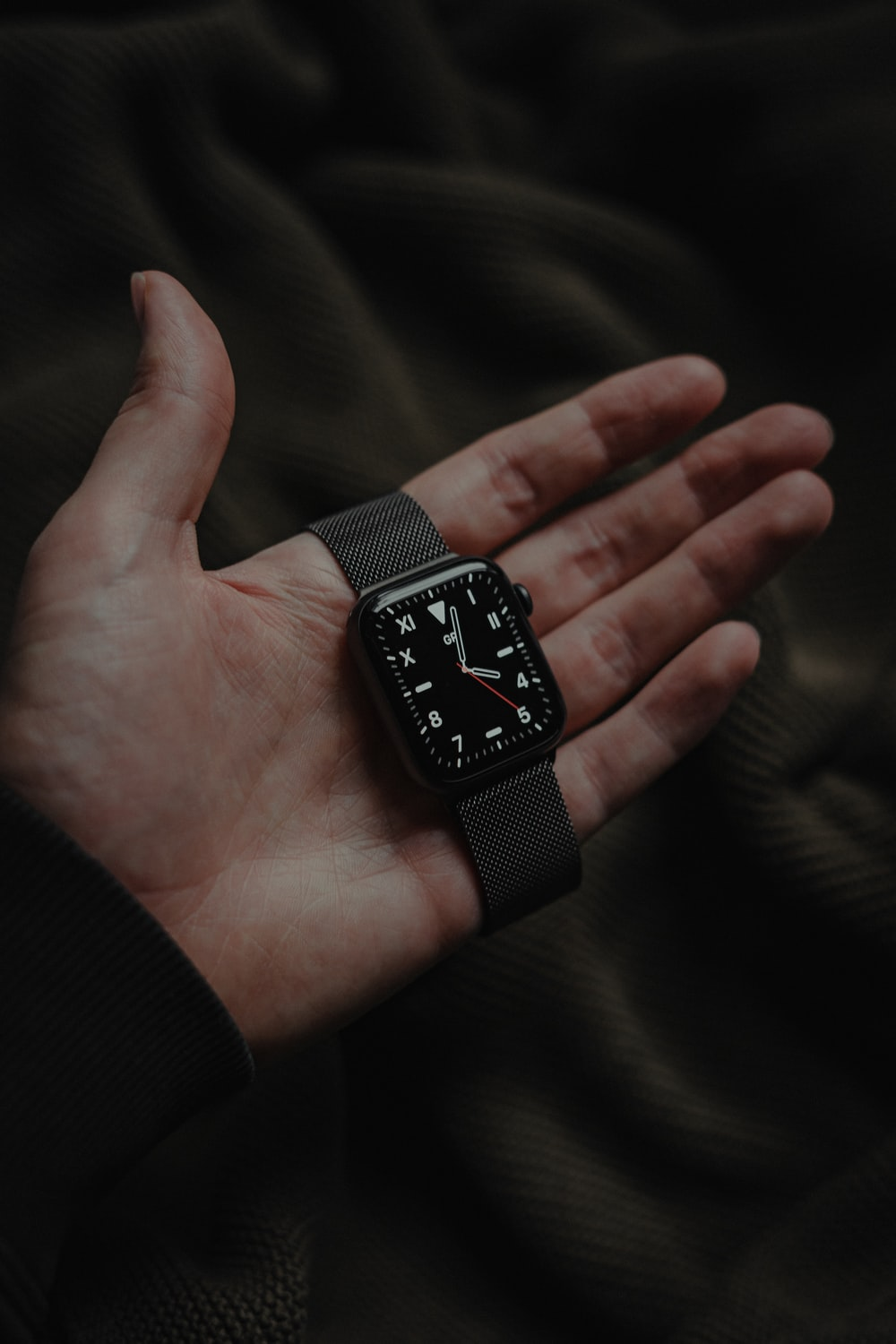 black and silver analog watch