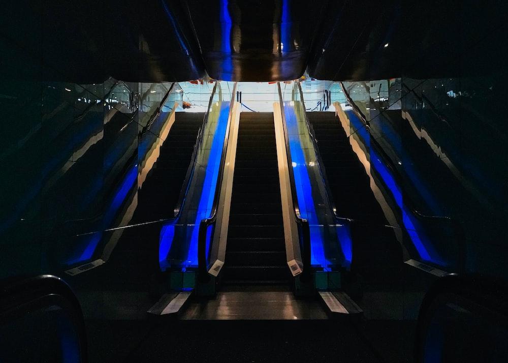 blue and black stadium seats