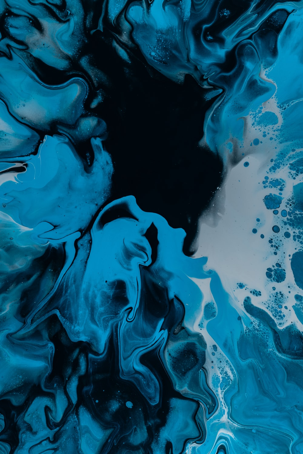 Black White And Blue Abstract Painting Photo Free Art Image On Unsplash