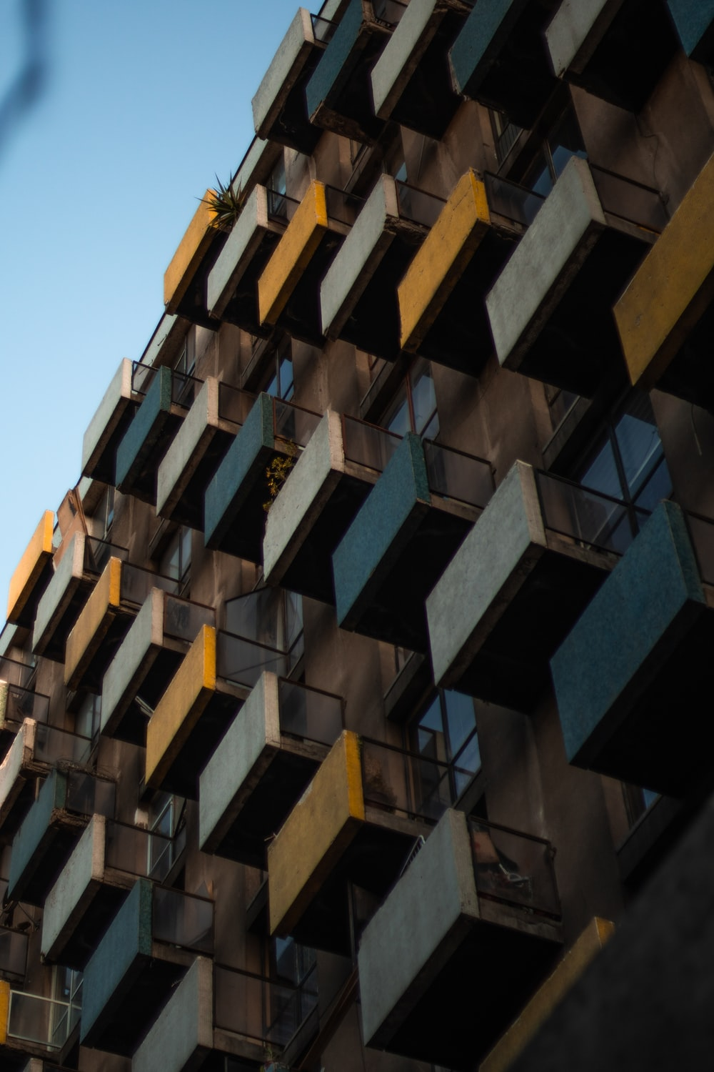 yellow and black concrete building