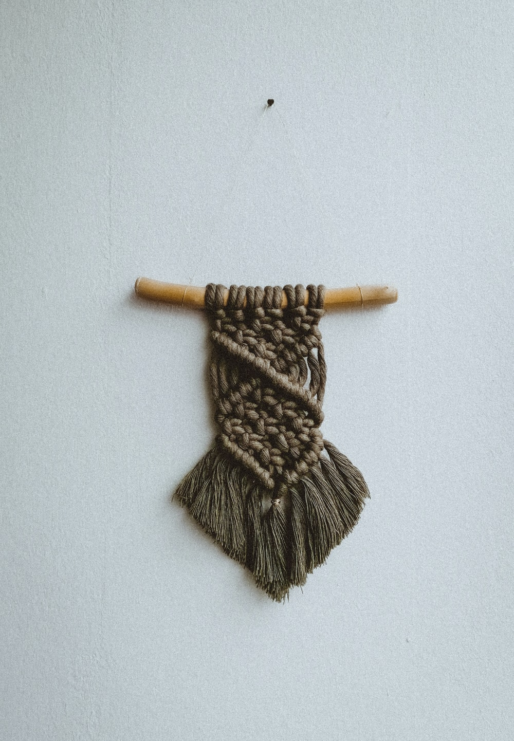brown and black knit textile