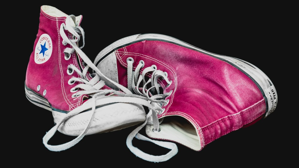 red and white converse all star high top sneakers