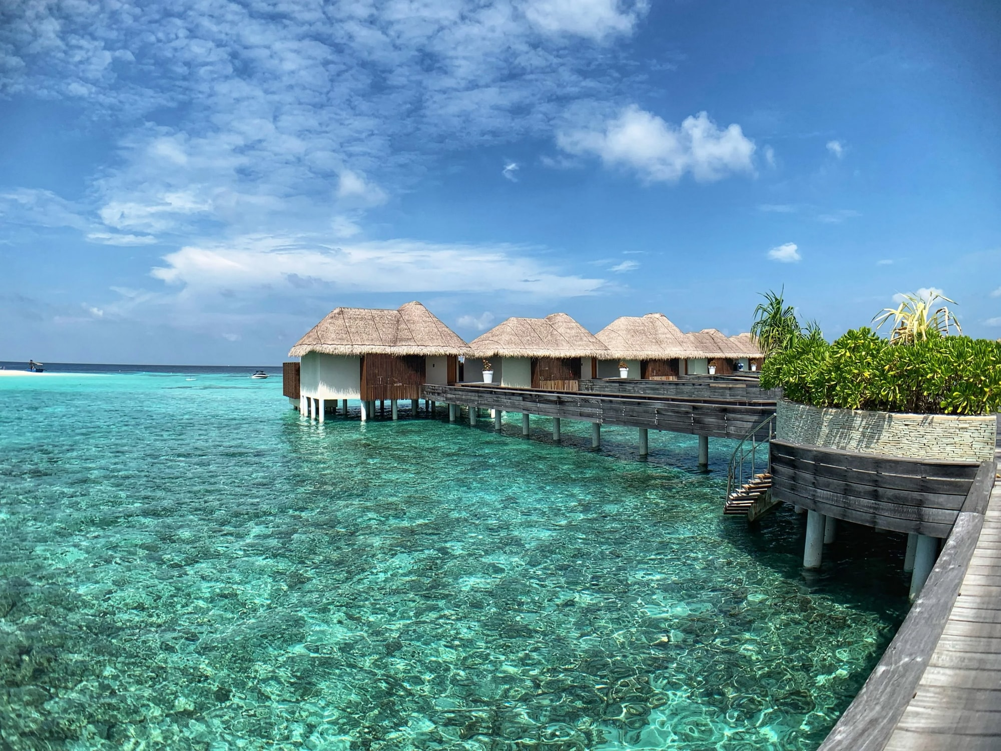 Overwater Villa at the W Hotel luxury resort in the Maldives.