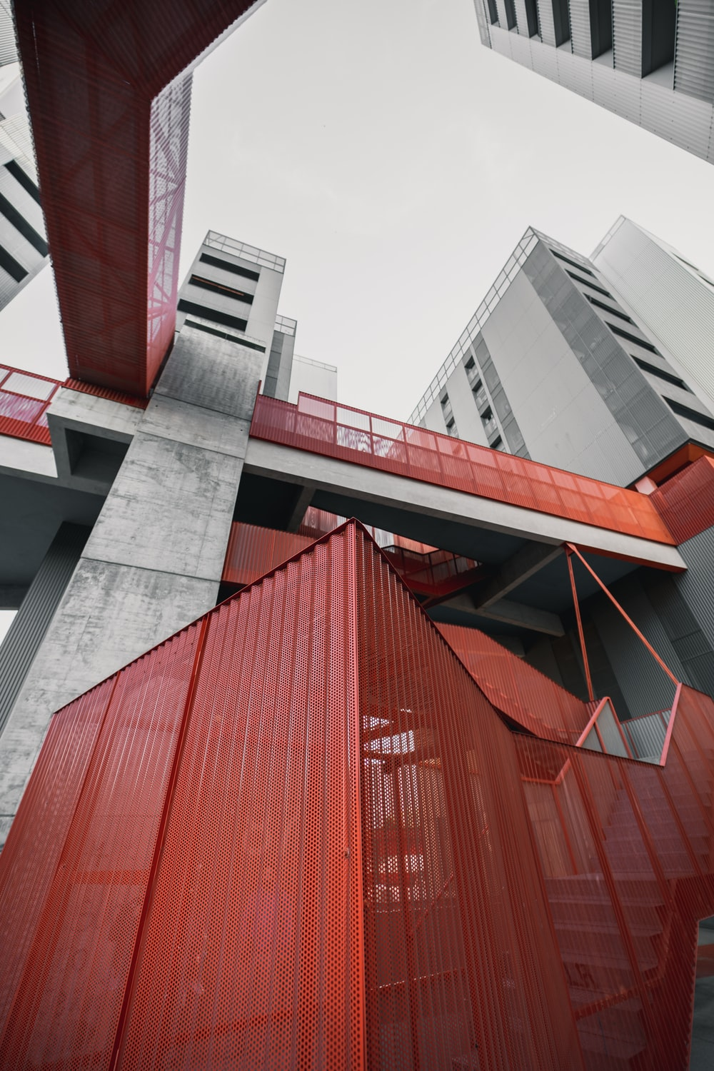 red and gray concrete building