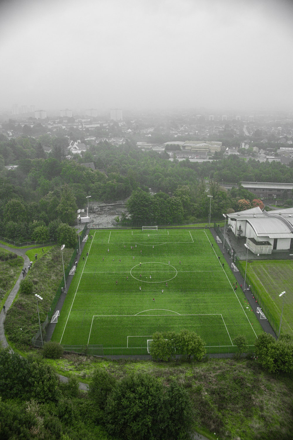 aerial view of green grass field during daytime