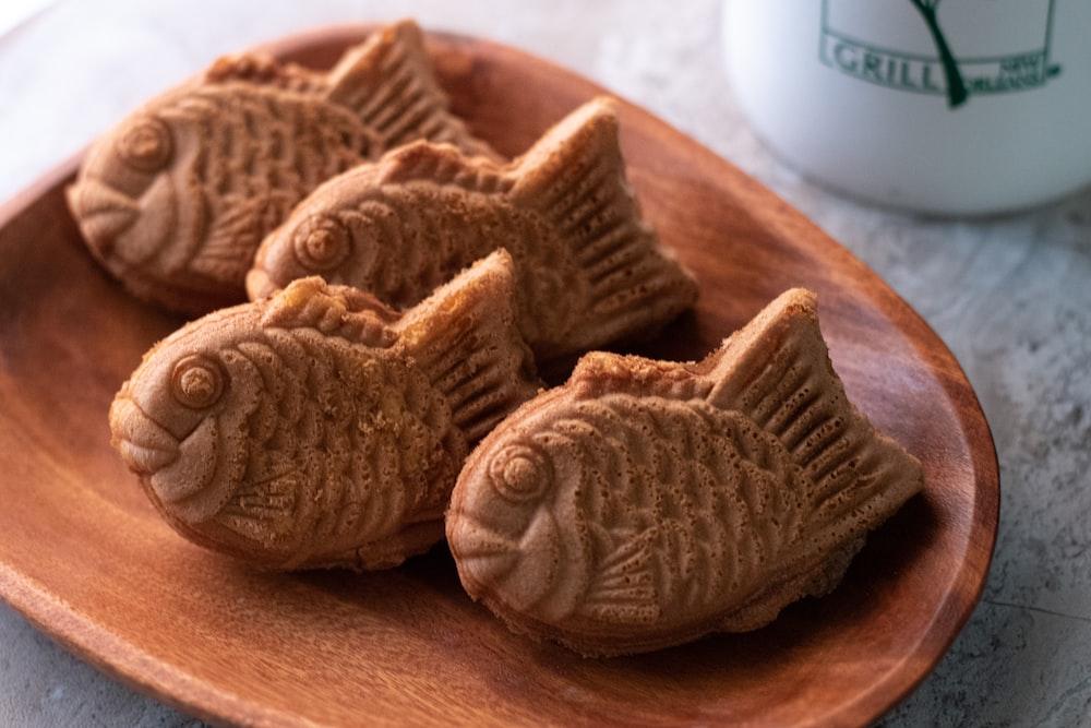 brown cookies on brown wooden table