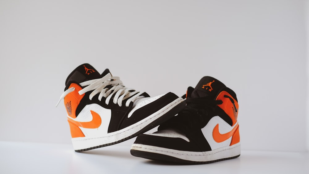 black white and red nike basketball shoes