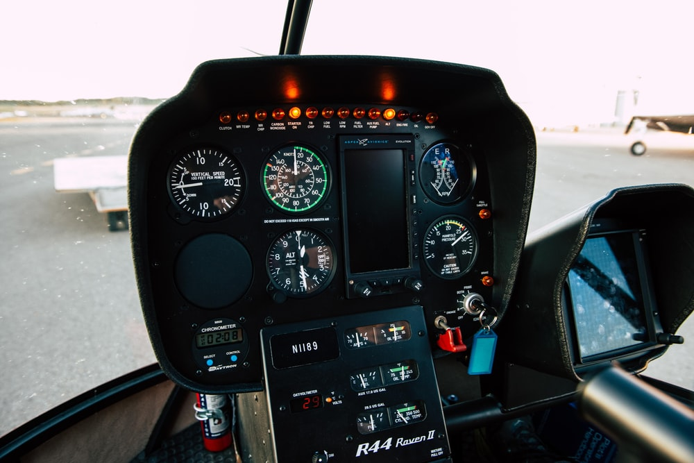 black and red steering wheel