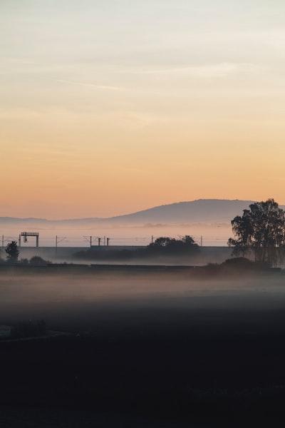 Morning mist with sunrise