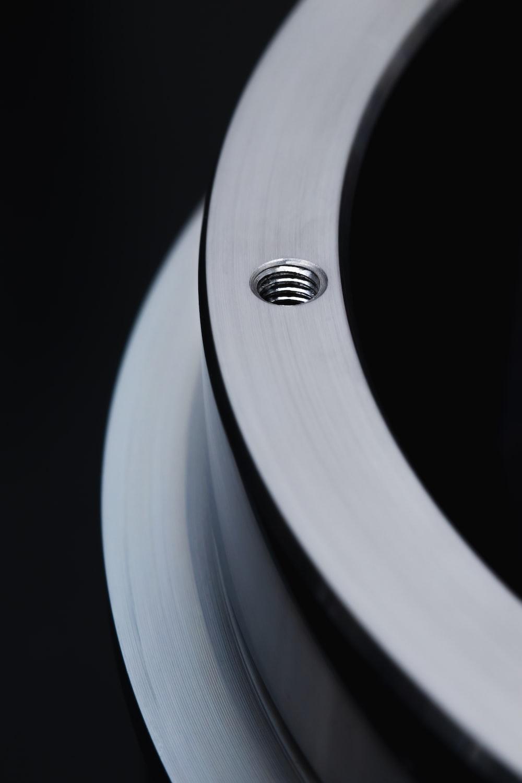 black and white round frame