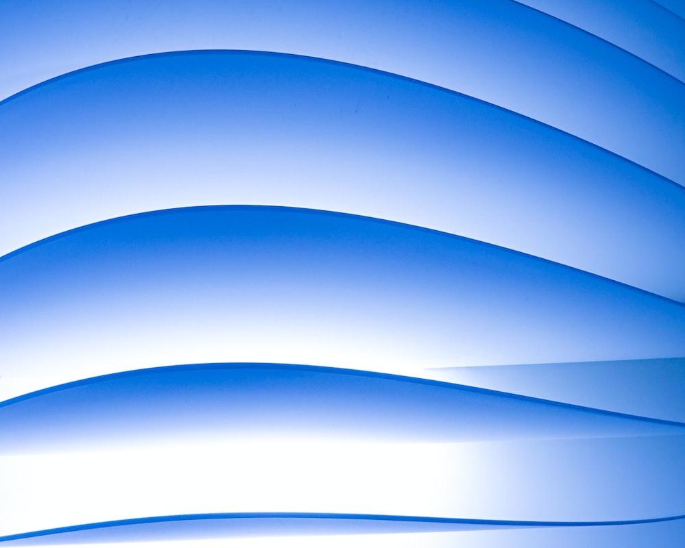 white and blue spiral illustration
