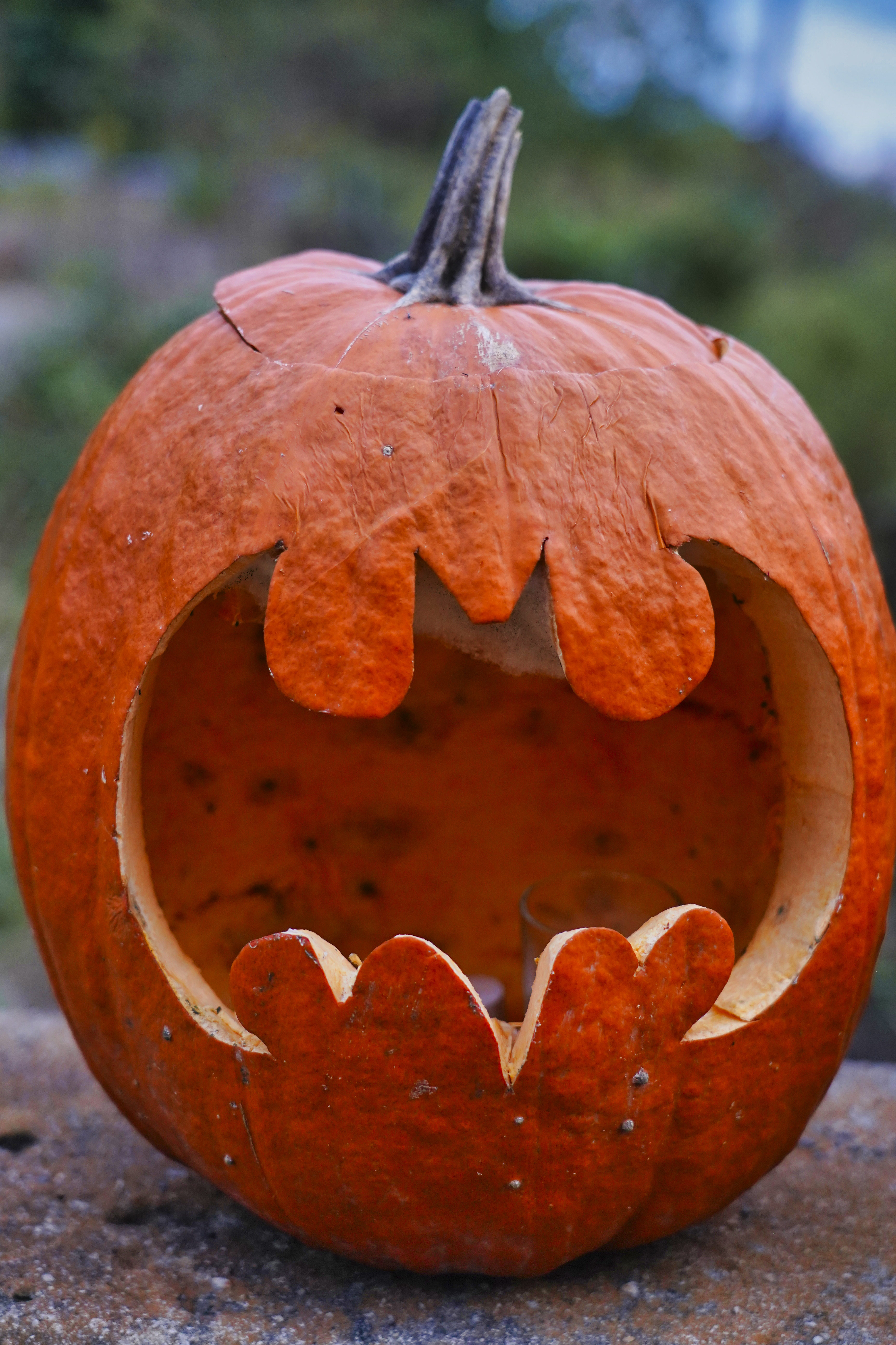 Batman Jack O Lantern on the Bynum Bridge for Halloween.