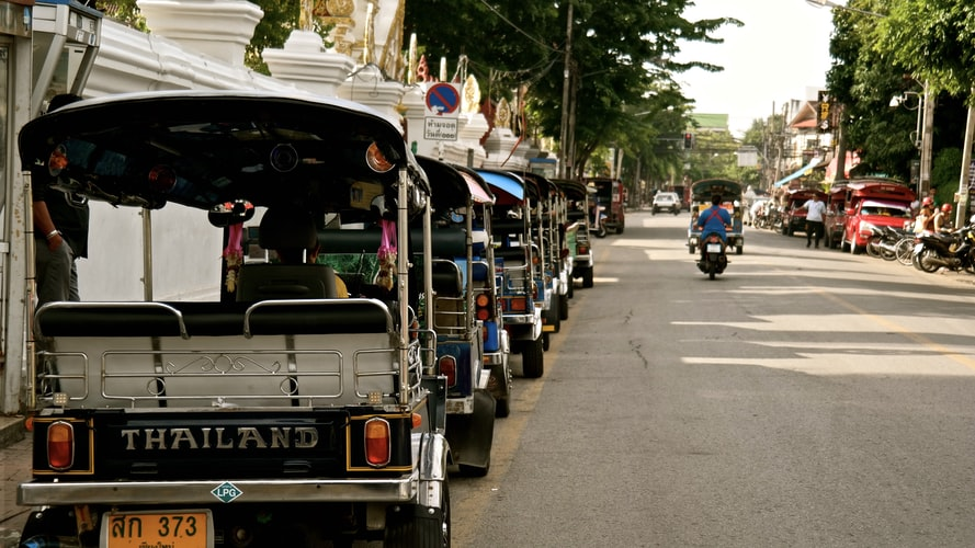 cost of living in Chiang Mai Thailand: transportation