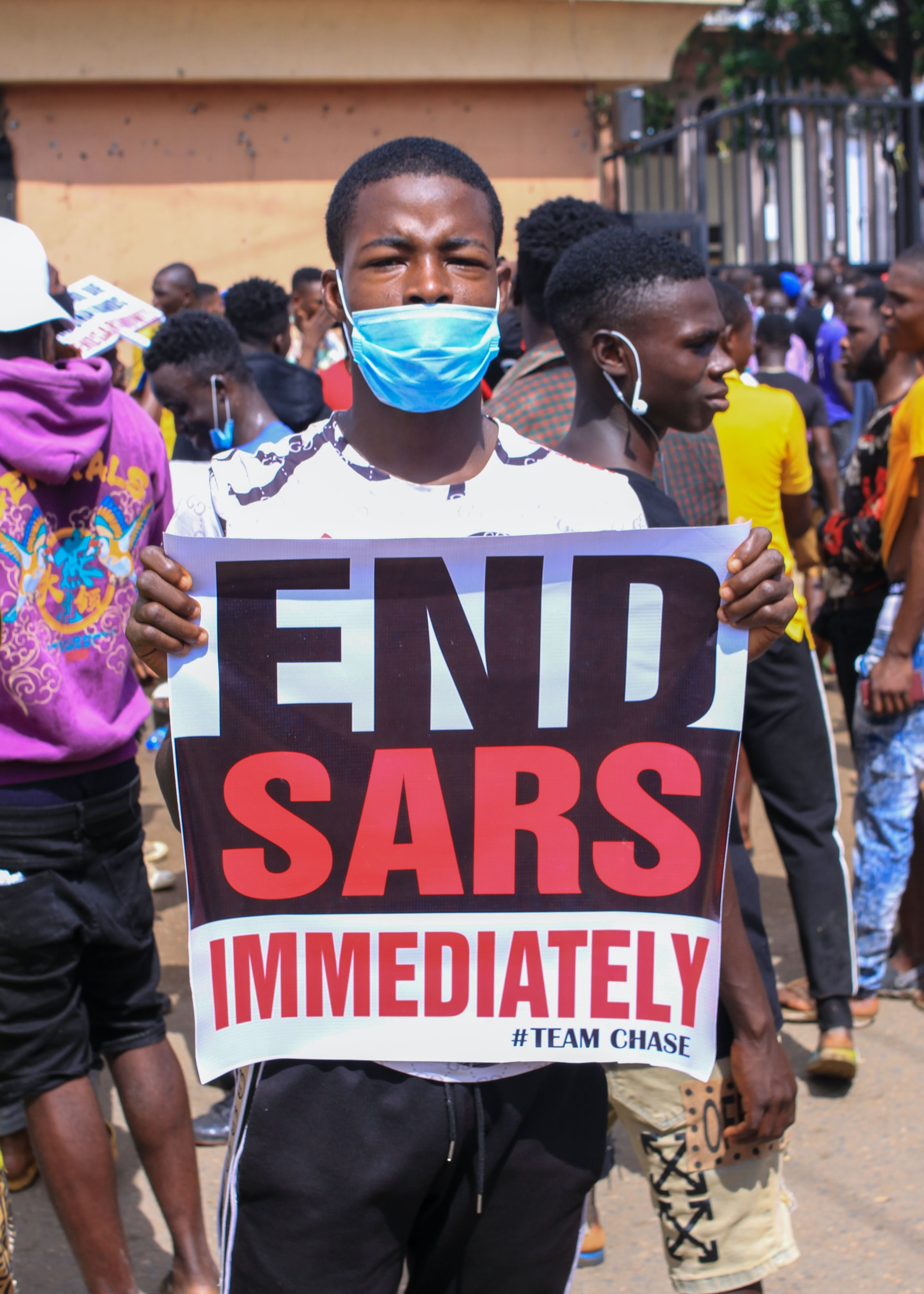 On going Protest in Nigeria 🇳🇬 to End SARS killing,