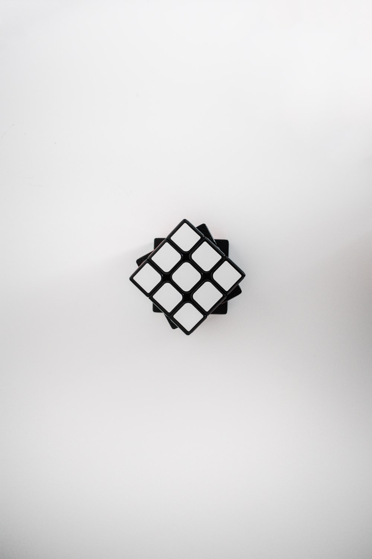 white and black checkered square