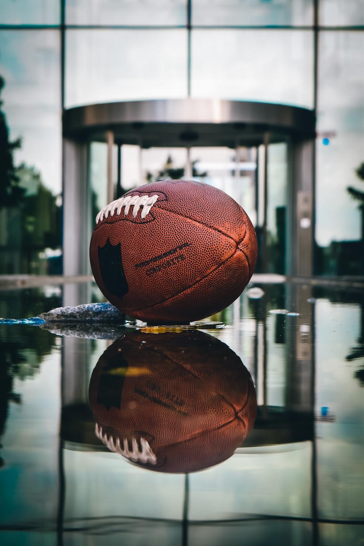 brown basketball on the ground