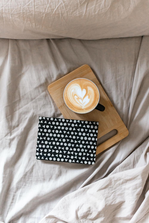 black and white polka dot box on white textile