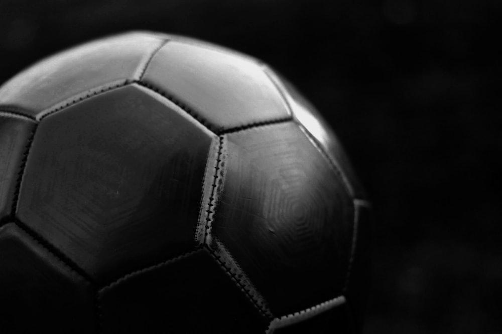 black and white soccer ball