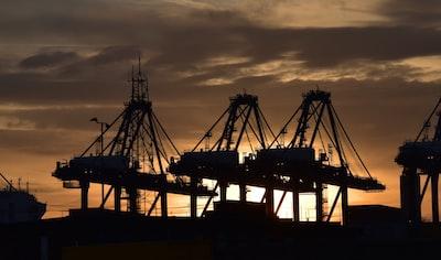 Port of Felixstowe sunset