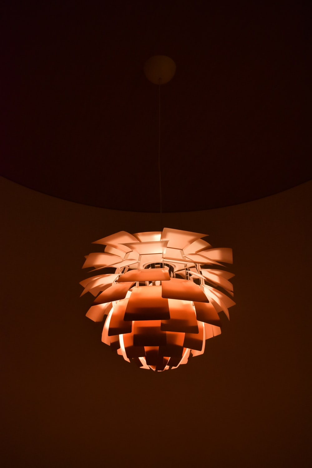 brown and black pendant lamp