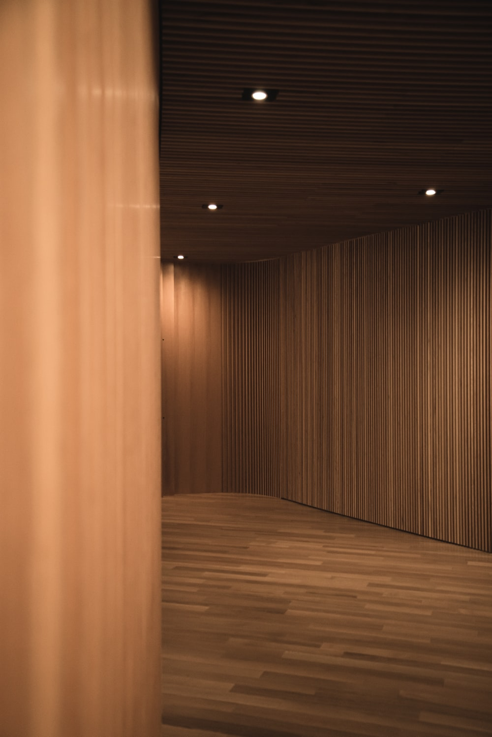 brown wooden wall with light