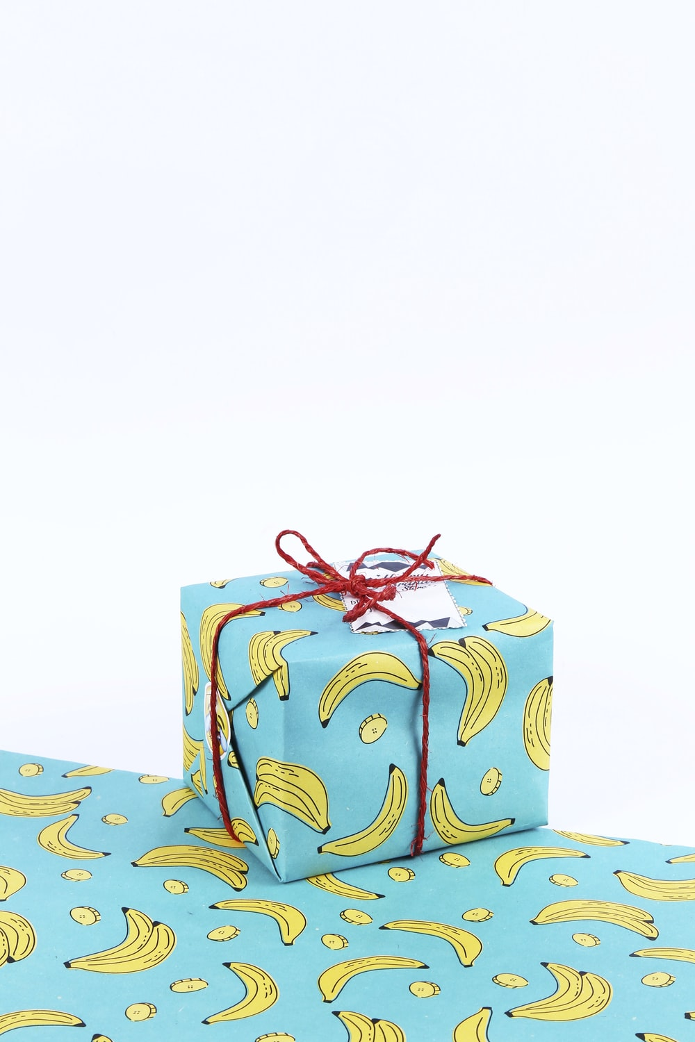 blue and yellow floral gift box