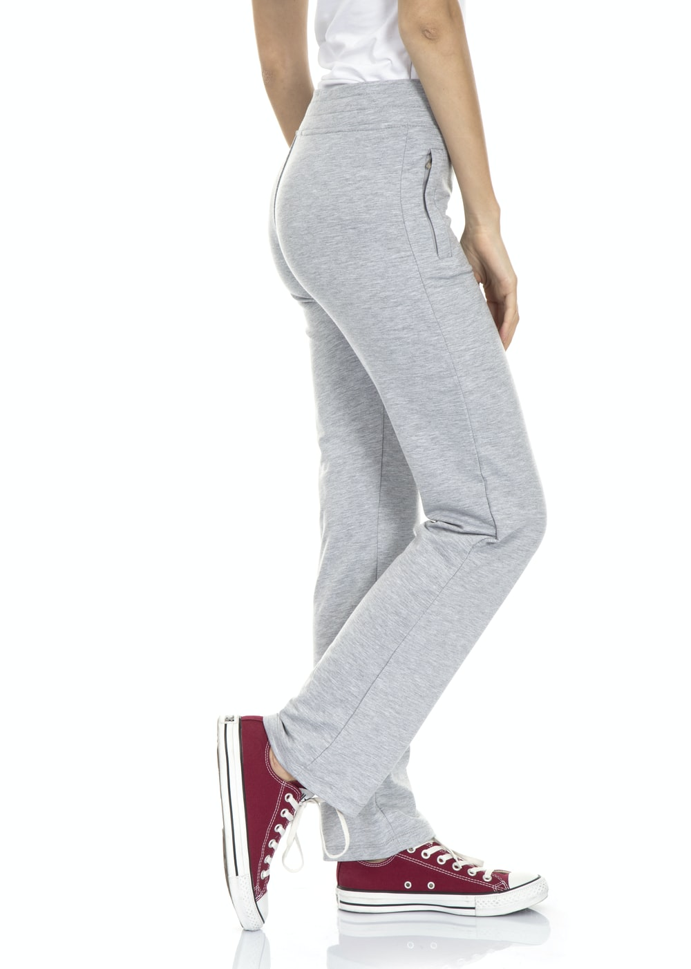 woman in gray tank top and gray pants