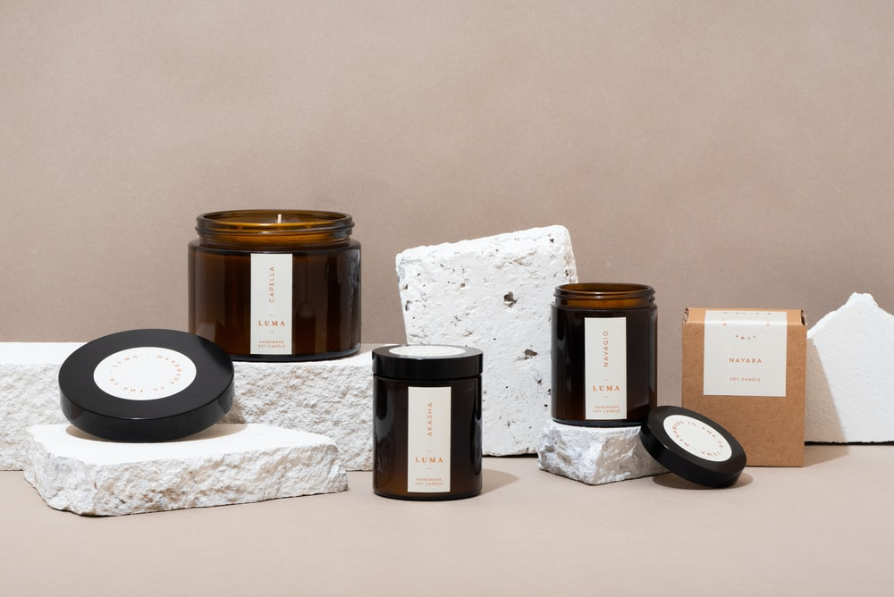 black and brown plastic containers