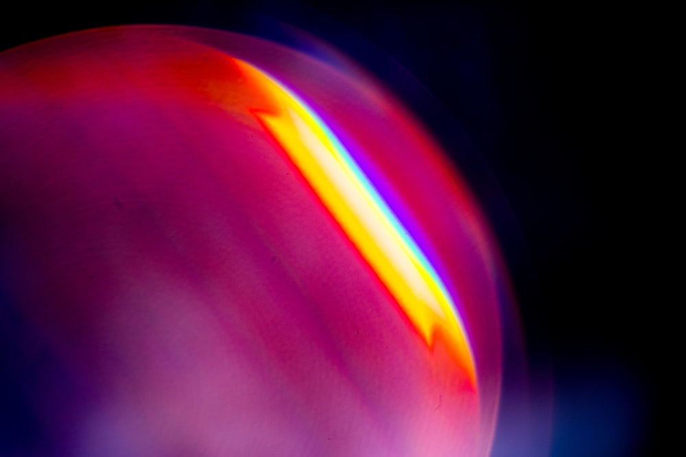 blue and pink light in dark room
