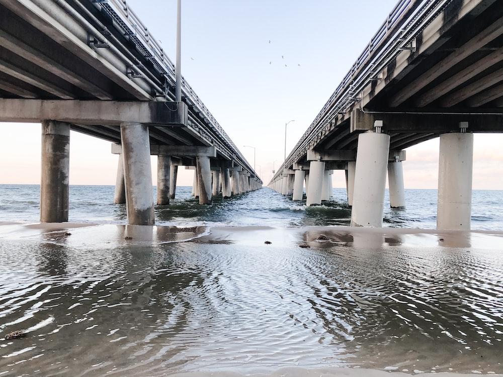 brown wooden bridge over water