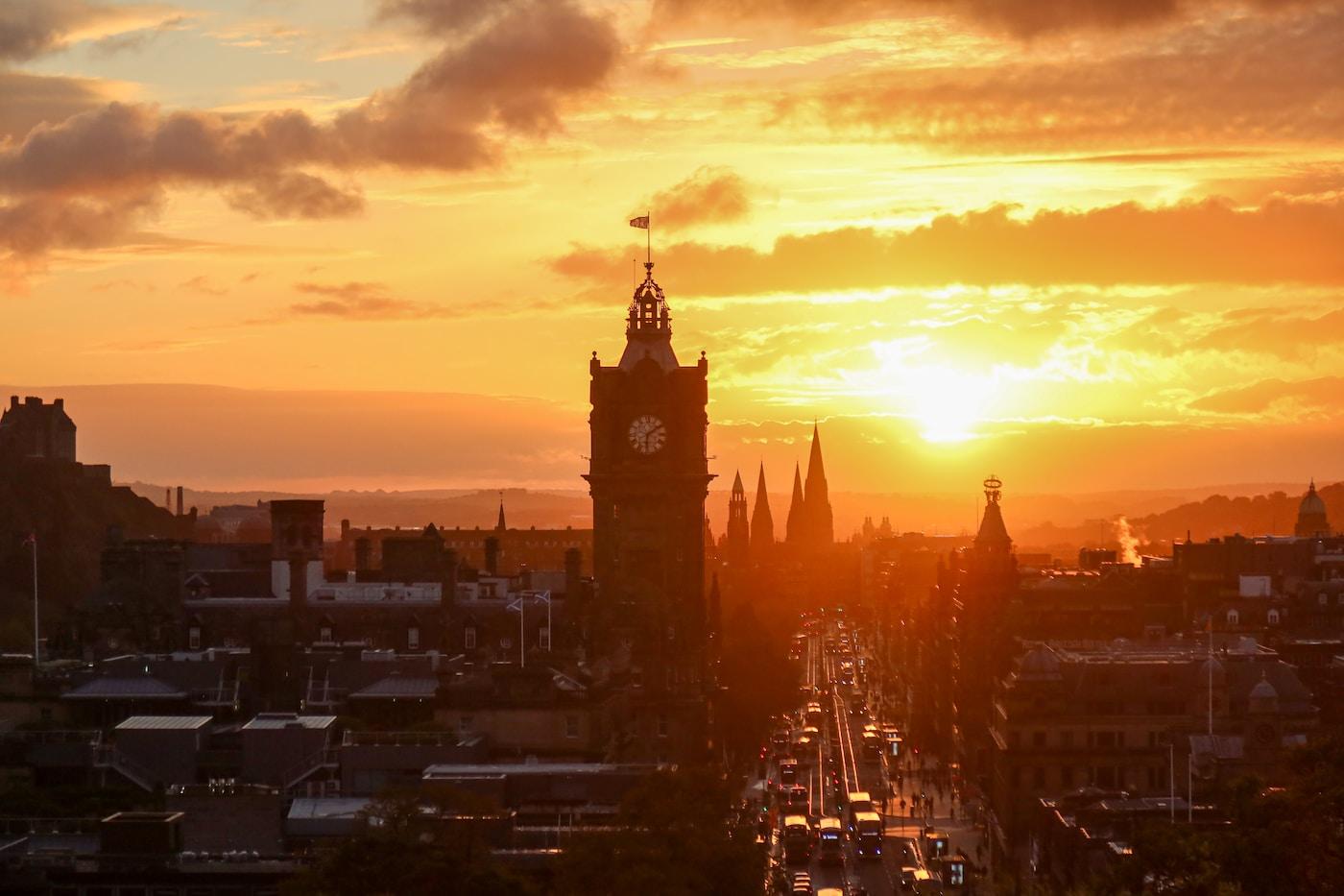 Universities Scotland. brown concrete building during sunset