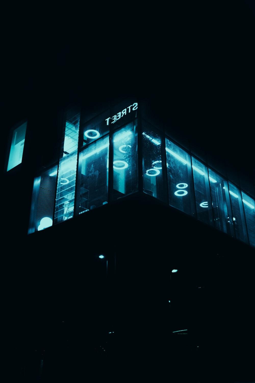 black and blue led light