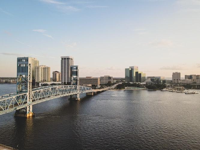 The bridge in downtown Jacksonville