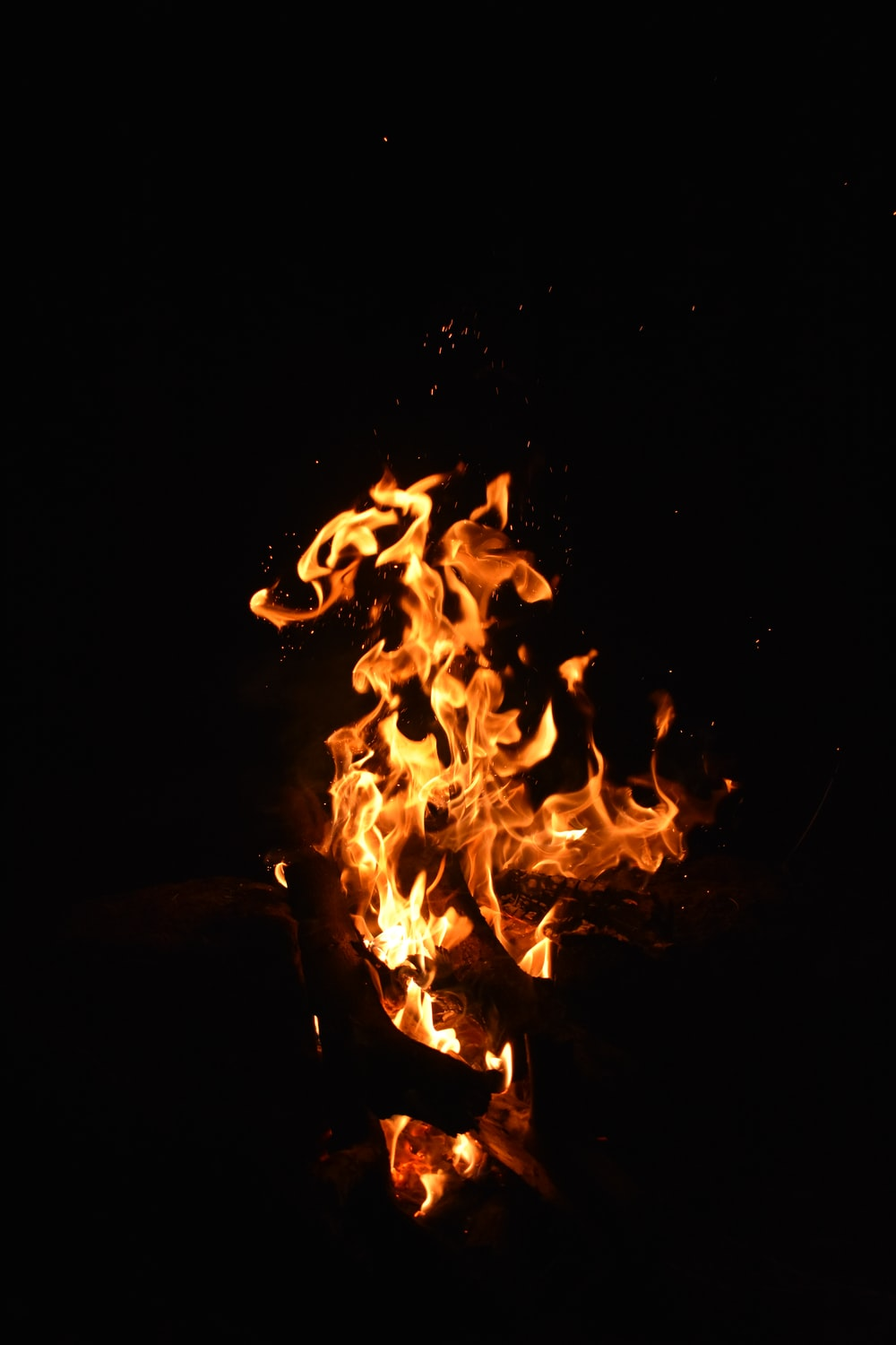 fire in the middle of the dark