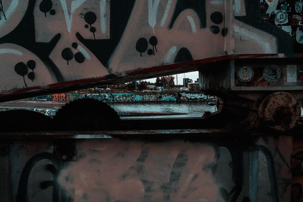 white and black train on rail track