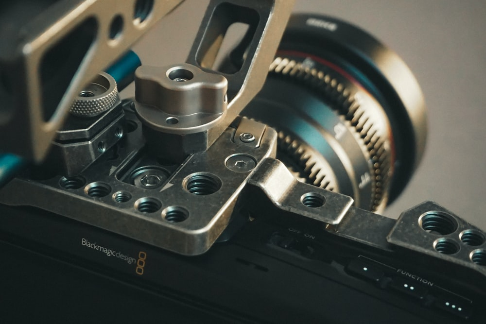 black and silver video camera