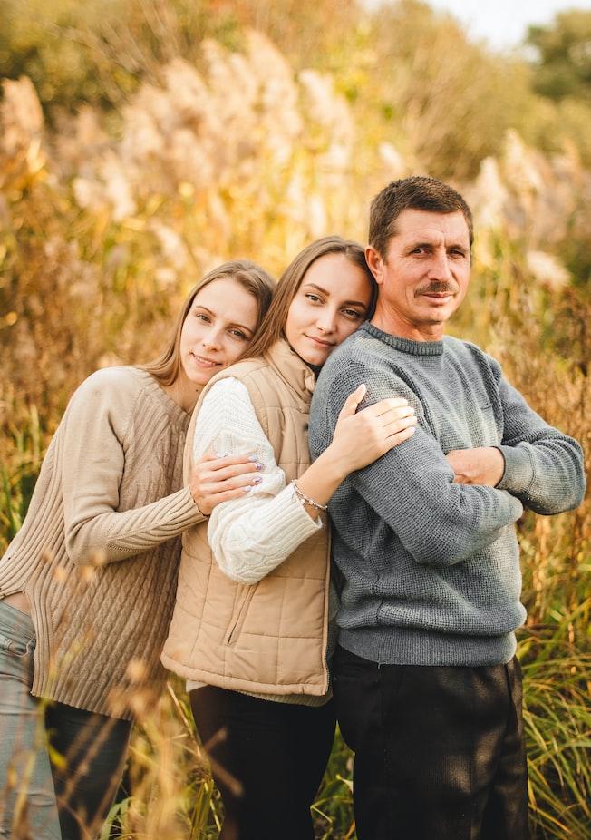 北欧の親子の写真