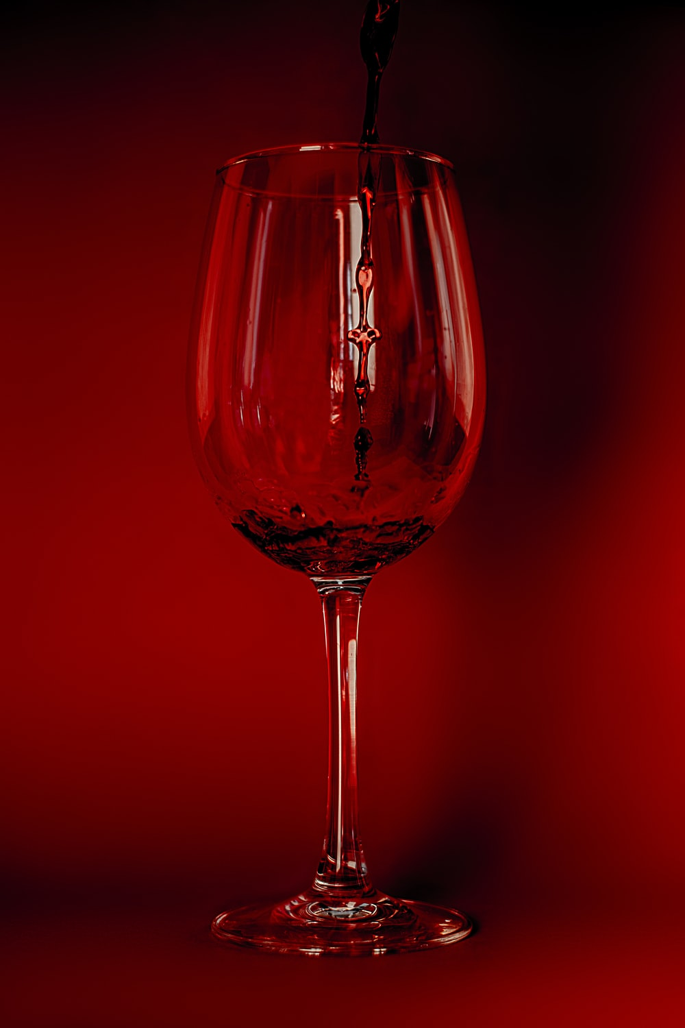 red wine in clear wine glass