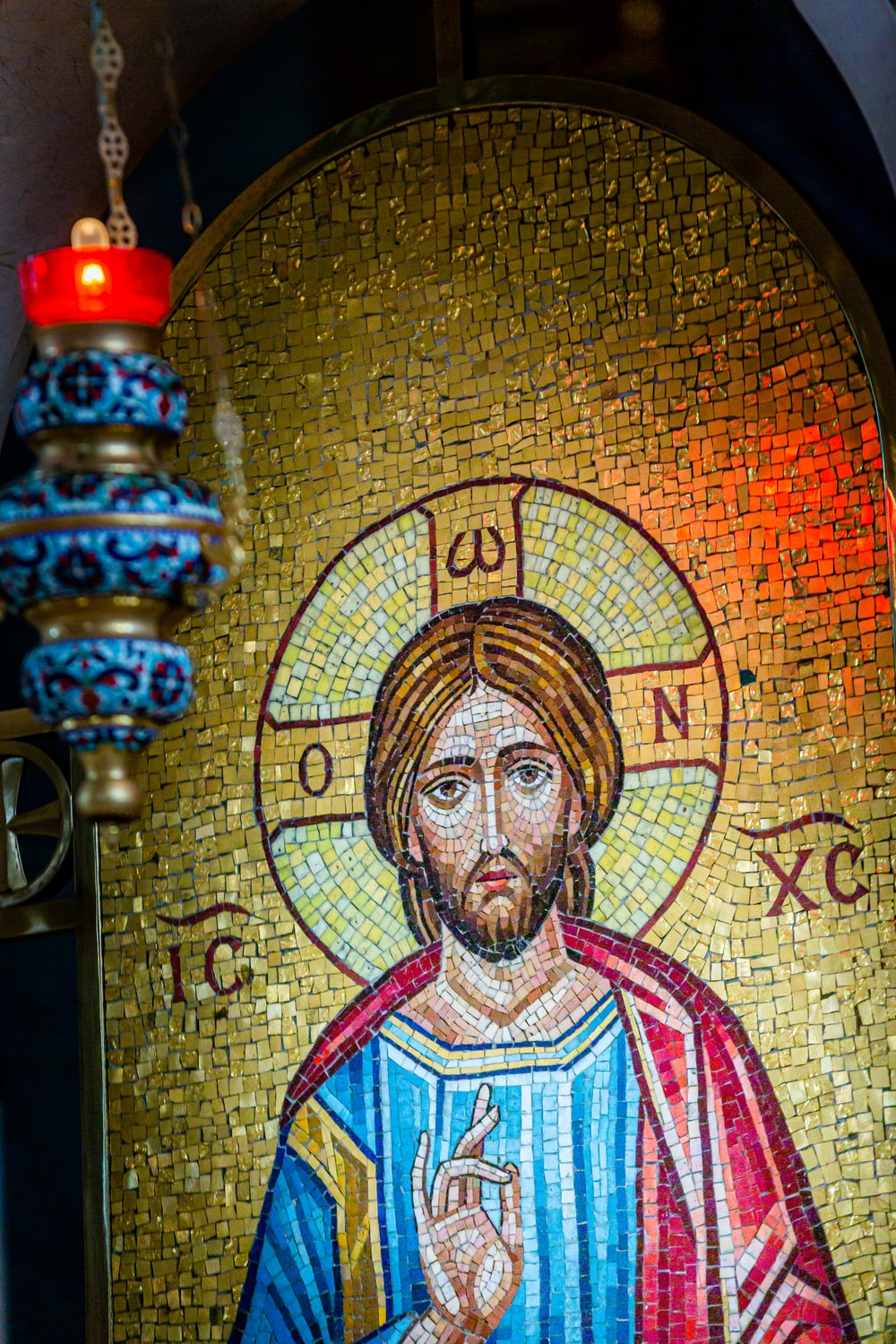 A panel of Jesus Christ from the iconostasis (icon bearer) of the Holy Trinity