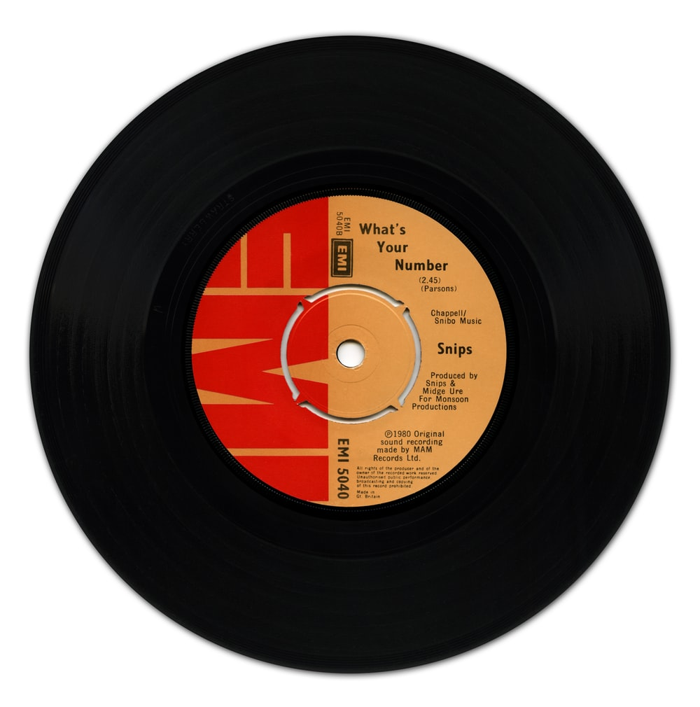 black and blue vinyl record