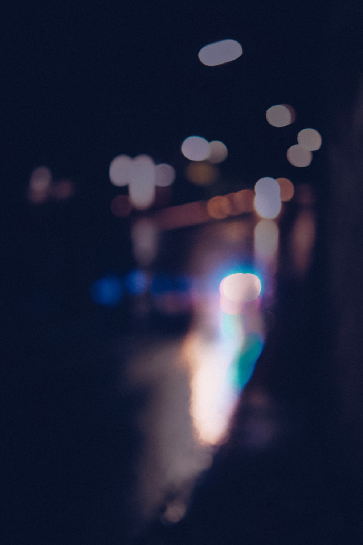 bokeh photography of city lights