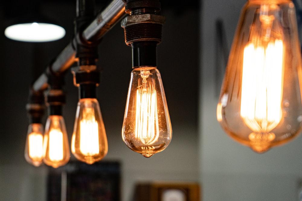 black and brown pendant lamp