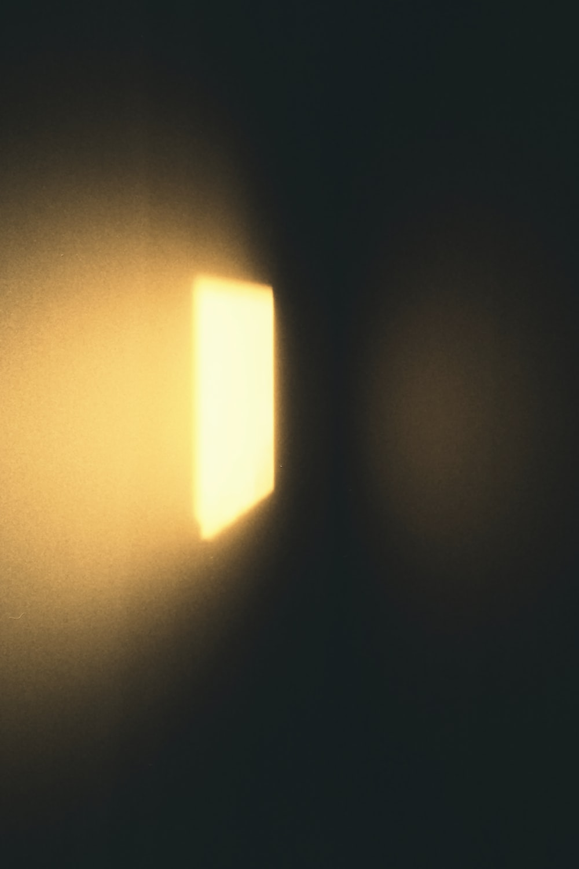 white light on brown ceiling