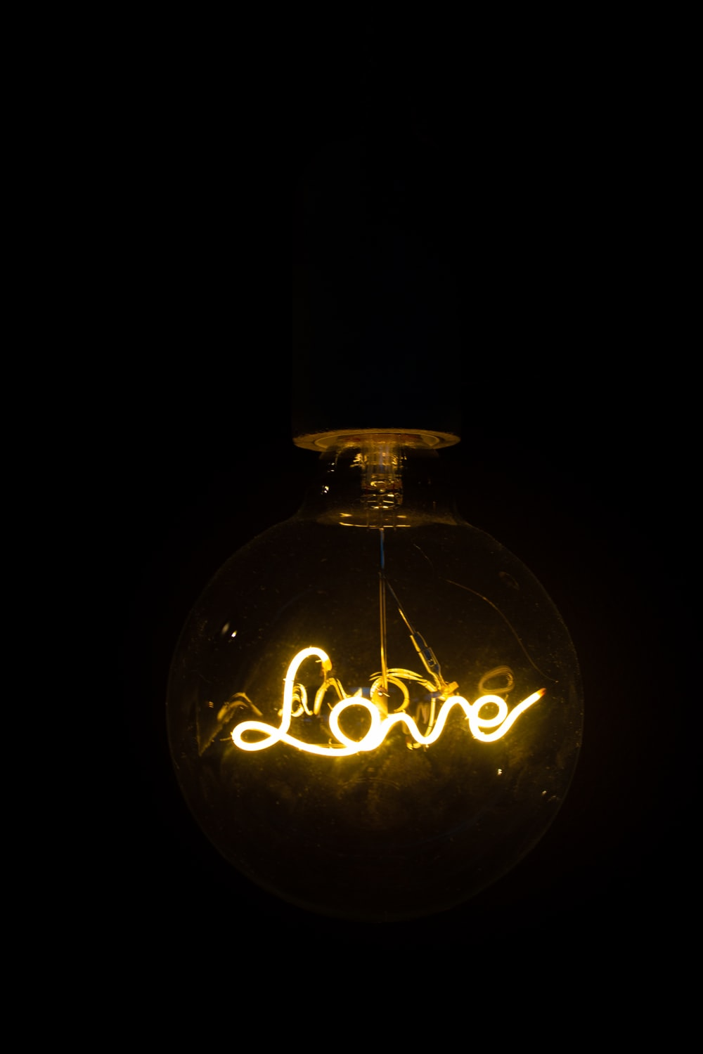 black and gold love print bottle