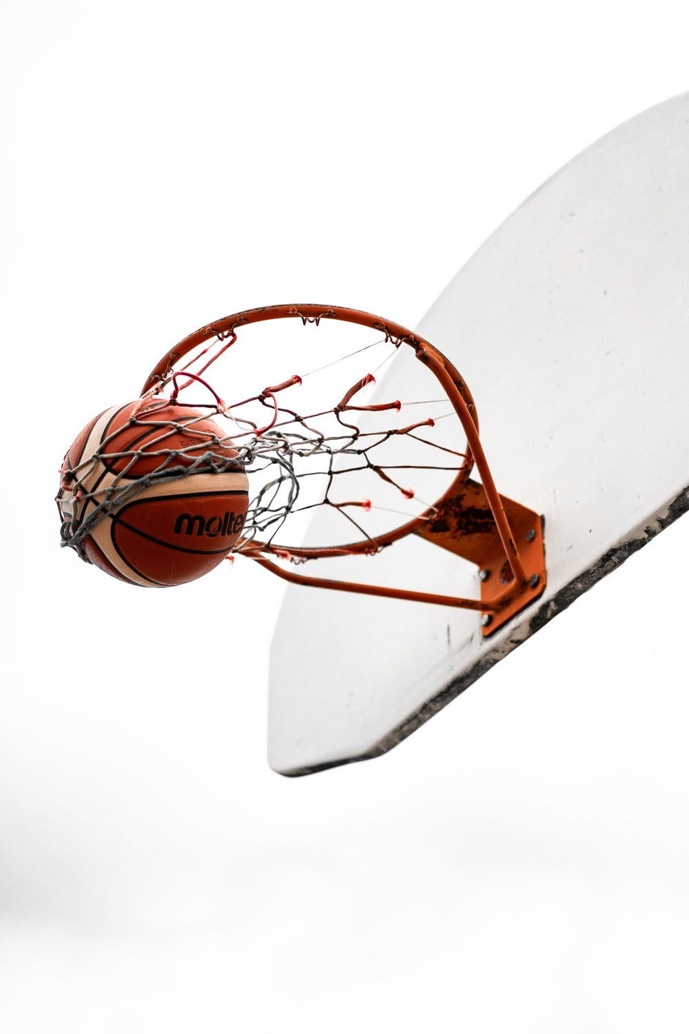 basketball hoop with white background